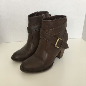 Nine West O-Don't Do It Brown Booties